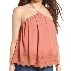 ASTR The Label Lace Halter Top